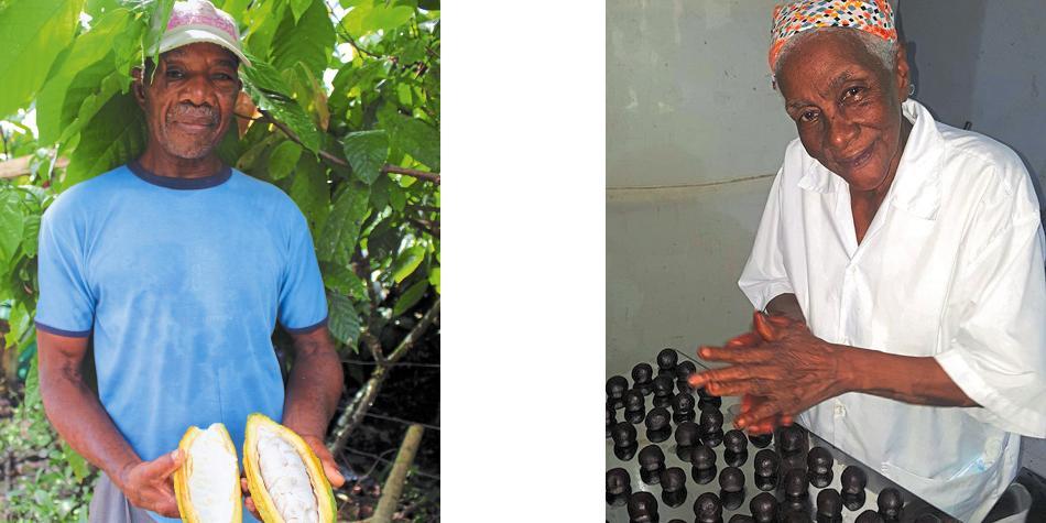 En el patio de Nohelia Conrado Sánchez, campesina de la zona rural de Tadó, en Chocó, lascosechas de cacaoy de achiote no se han vuelto a perder.